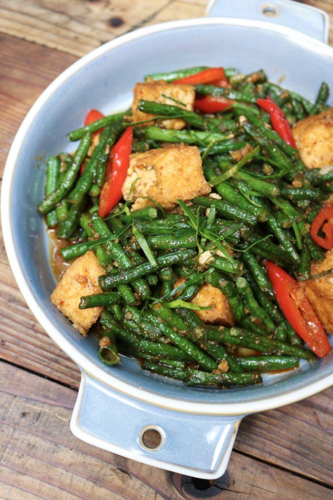 Wok Fried String Beans (Tua Pad Prik Khing) Wayla NYC