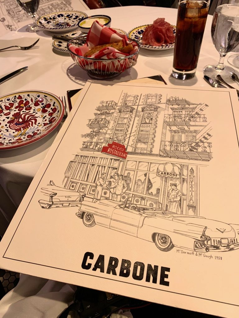 Carbone Large Menu