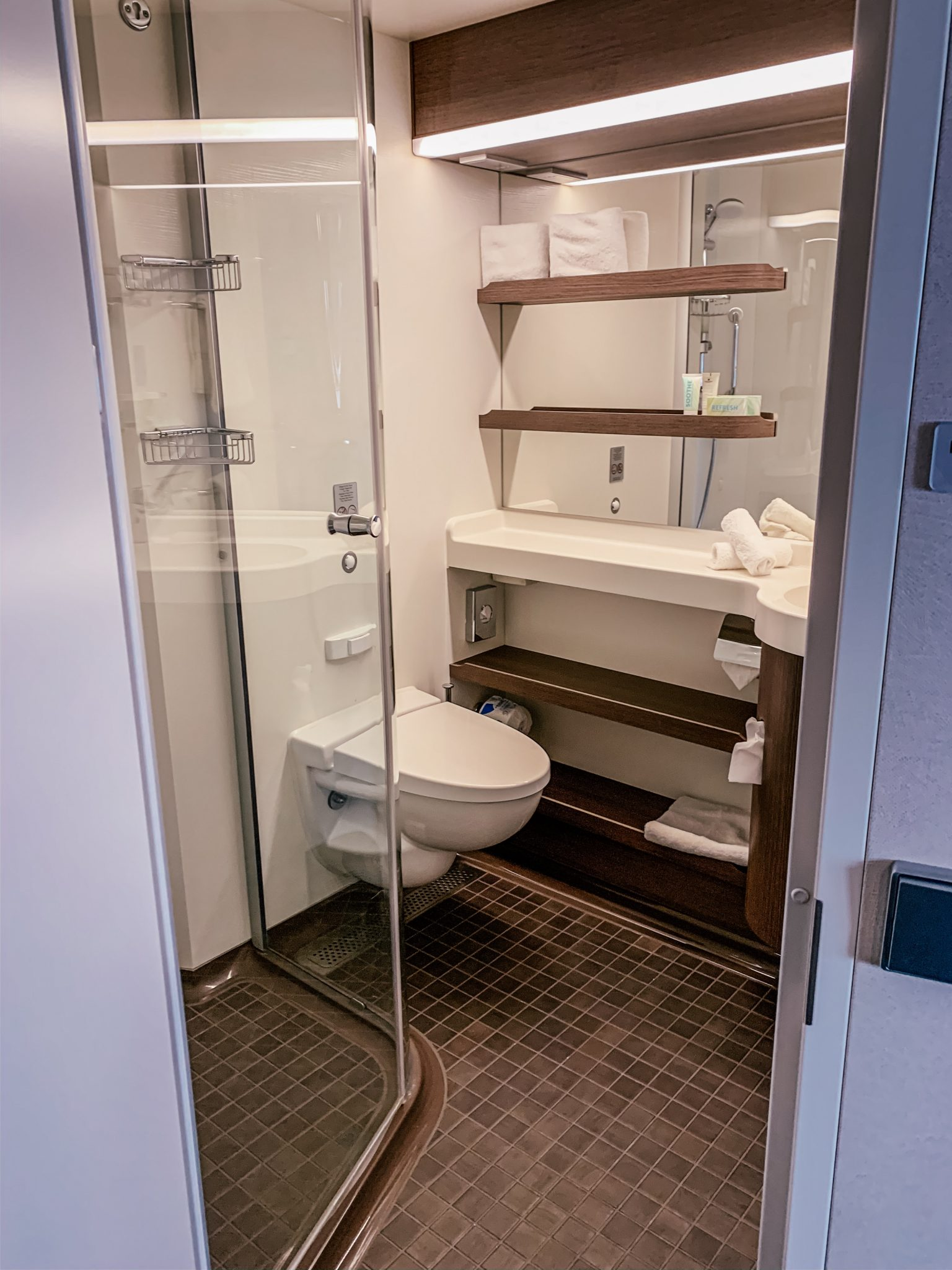 Norwegian Encore Mini-Suite Stateroom - Bathroom