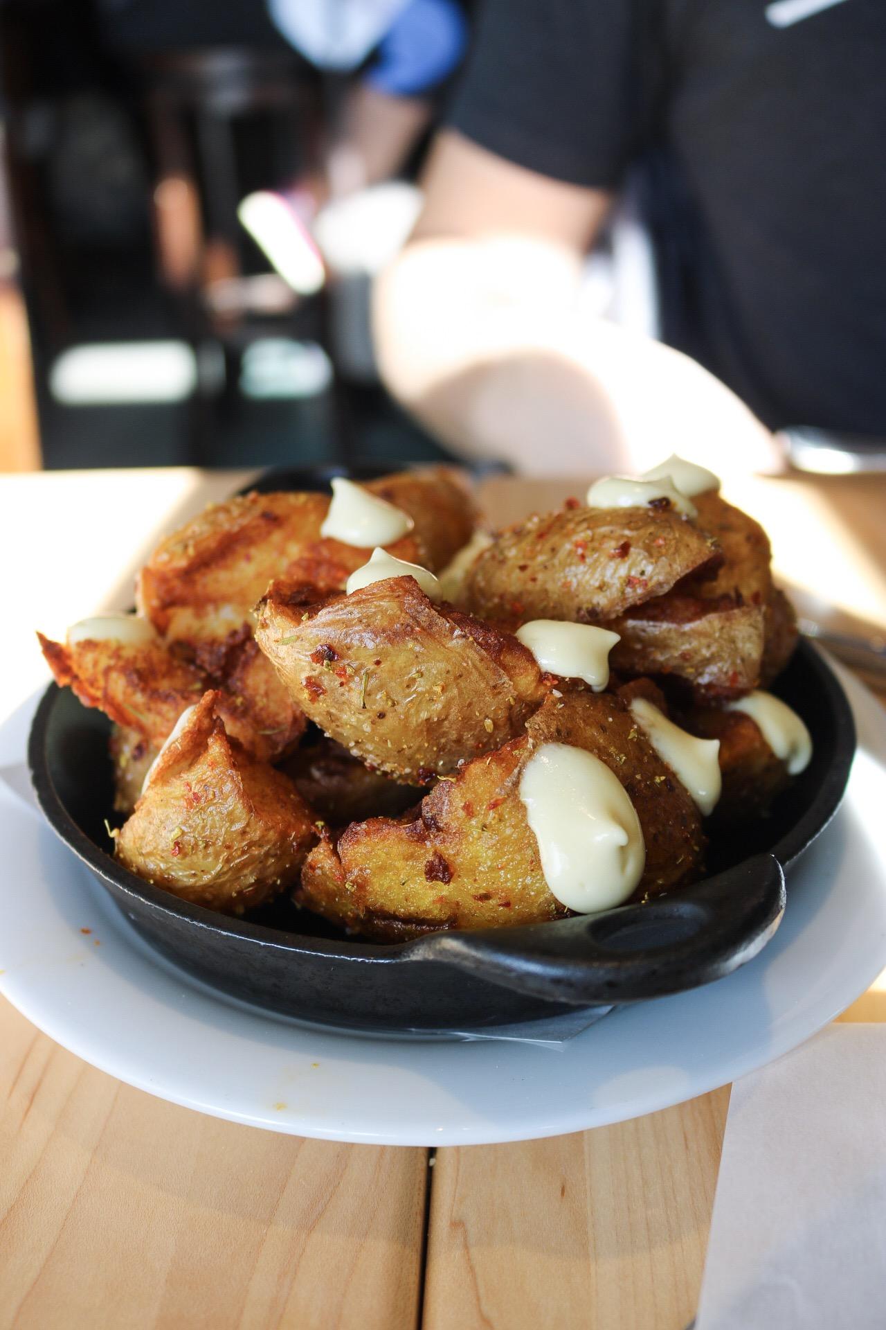 Bar Dough - Smashed Home Fries w/ Lemon-Garlic Aioli