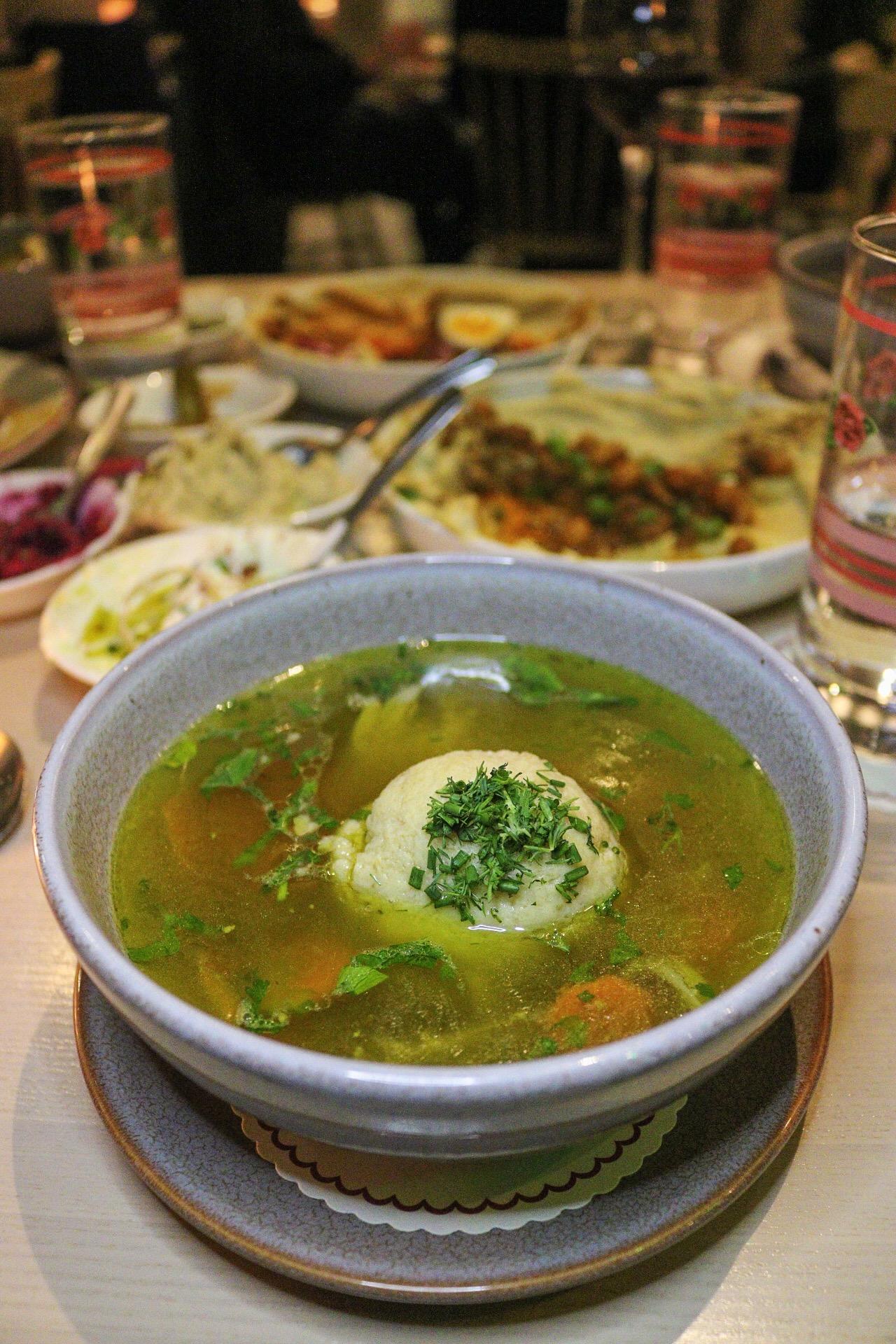 Safta - Duck Matzo Ball Soup